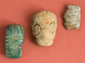 American Indian Art:Pottery, Collection of Three Maya Pendants...