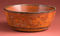 American Indian Art:Pottery, Maya Offering Bowl with Compound Glyphs...