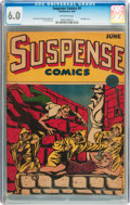 Golden Age (1938-1955):Horror, Suspense Comics #4 (Continental Magazines, 1944) CGC FN 6.0Off-white pages....