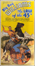 """Movie Posters:Western, The Law Of The 45's (Normandy, 1935). Three Sheet (41"""" X 81"""").Western.. ..."""