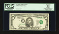 Error Notes:Shifted Third Printing, Fr. 1976-C $5 1981 Federal Reserve Note. PCGS Apparent Very Fine 35.. ...