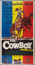 "Movie Posters:Western, The Cowboy (Lippert, 1954). Three Sheet (41"" X 81""). Western.. ..."