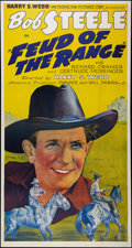 "Movie Posters:Western, Feud of the Range (States Rights Independent Exchanges, 1939).Three Sheet (41"" X 81""). Western.. ..."