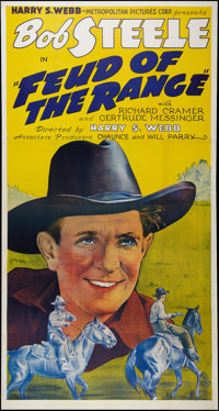 "Feud of the Range (States Rights Independent Exchanges, 1939). Three Sheet (41"" X 81""). Western"