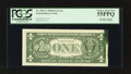 Error Notes:Ink Smears, Fr. 1907-C $1 1969D Federal Reserve Note. PCGS Choice About New55PPQ.. ...