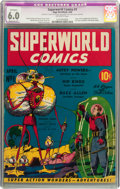 Golden Age (1938-1955):Science Fiction, Superworld Comics #1 (Hugo Gernsback, 1940) CGC Apparent FN 6.0Moderate (P) Off-white pages....