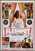 """Movie Posters:Exploitation, Fleshpot on 42nd Street (William Mishkin Motion Pictures Inc.,1973). One Sheet (27"""" X 39.5""""). Exploitation.. ..."""