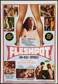 "Fleshpot on 42nd Street (William Mishkin Motion Pictures Inc., 1973). One Sheet (27"" X 39.5""). Exploitation..."