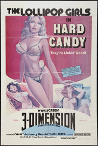 "The Lollipop Girls in Hard Candy (Debonair, 1976). One Sheet (27.75"" X 41.5"") 3-D Style. Adult"