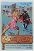"""Movie Posters:Adult, The Erotic Adventures of Zorro (Entertainment Ventures, Inc., 1972). One Sheet (28"""" X 42""""). Adult.. ..."""