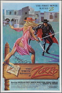 "The Erotic Adventures of Zorro (Entertainment Ventures, Inc., 1972). One Sheet (28"" X 42""). Adult"