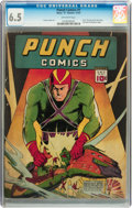 Golden Age (1938-1955):Superhero, Punch Comics #1 (Chesler, 1941) CGC FN+ 6.5 Off-white pages....