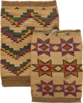 American Indian Art:Baskets, TWO PLATEAU TWINED CORNHUSK BAGS. c. 1900... (Total: 2 Items)