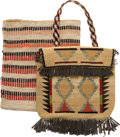 American Indian Art:Baskets, TWO PLATEAU TWINED BAGS. c. 1900... (Total: 2 Items)