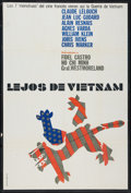 "Movie Posters:Documentary, Loin du Vietnam (SLON, 1967). Argentinean Poster (29"" X 43""). Documentary.. ..."