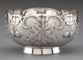 Silver Holloware, Continental:Holloware, A FRENCH SILVER BOWL WITH MAPLE LEAF DECORATION . Louise Ravinet& Charles Denfert, Paris, France, circa 1900 . Marks: (Mine...