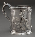 Silver Holloware, American:Cups, A STEBBINS COIN SILVER MUG . E. Stebbins & Company, New York,New York, circa 1850 . Marks: STEBBINS & CO. 3-1/2inches ...