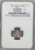 Early Half Dimes, 1800 H10C LIBEKTY--Damaged--NGC Details. VG. LM-3. NGC Census:(1/40). PCGS Population (0/46). Numismedia Wsl. Price for p...