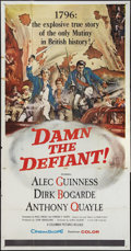 "Movie Posters:Adventure, Damn the Defiant! (Columbia, 1962). Three Sheet (41"" X 81"").Adventure.. ..."