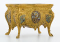 Decorative Arts, French:Other , FROM A PRIVATE HOUSTON COLLECTION . FRENCH GILT BRONZE ANDCHAMPLEVÉ ENAMEL JARDINIÈRE. Circa 1900. 4-1/8 x 5-3/4 x 4 inch...