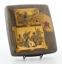 FROM A PRIVATE HOUSTON COLLECTION  JAPANESE KIRI KANE LACQUER WRITING BOX Early 20th century