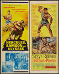 "Movie Posters:Adventure, The Last Days of Pompeii & Other Lot (United Artists, 1960).Inserts (2) (14"" X 36""). Adventure.. ... (Total: 2 Items)"