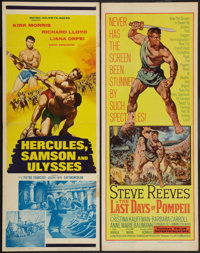 """The Last Days of Pompeii & Other Lot (United Artists, 1960). Inserts (2) (14"""" X 36""""). Adventure. ... (..."""