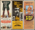 """Movie Posters:War, King Rat & Others Lot (Columbia, 1965). Inserts (3) (14"""" X36""""). War.. ... (Total: 3 Items)"""
