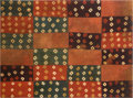 "Antiques:Antiquities, Nazca Tie Dyed ""Checker Board"" Panel..."