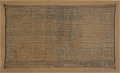 Antiques:Antiquities, Chimu Gauze Panel Depicting Ocean Waves...