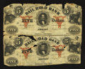 Obsoletes By State:Michigan, Adrian, MI- Erie and Kalamazoo Rail Road Bank $5-$5 Aug 1, 1853 Uncut Pair. ...