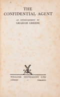 Books:First Editions, Graham Greene. The Confidential Agent. London: WilliamHeinemann, [1939]. First edition. Octavo. [vi], 286 pages...