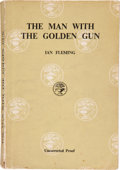 Books:First Editions, Ian Fleming. The Man With the Golden Gun. London: JonathanCape, [1965]. Uncorrected proof of the first edition....