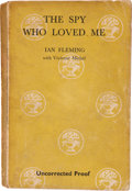 Books:First Editions, Ian Fleming with Vivienne Michel. The Spy Who Loved Me.London: Jonathan Cape, [1962]. Uncorrected proof of the ...