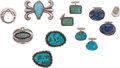 American Indian Art:Jewelry and Silverwork, EIGHT NAVAJO SILVER ITEMS. c. 1940 - 1960... (Total: 8 Items)
