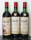 Red Bordeaux, Chateau Grand Puy Lacoste 1970 . Pauillac. 1bn, 1vhs, 1htms,3hbsl, 1tal, 1lcc, 1ssos. Bottle (3). ... (Total: 3 Btls. )