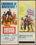 "Movie Posters:Adventure, Hero's Island and Other Lot (United Artists, 1962). Inserts (2)(14"" X 36""). Adventure.. ... (Total: 2 Items)"
