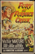 "Movie Posters:Western, Fury at Furnace Creek and Other Lot (20th Century Fox, 1948). One Sheets (2) (27"" X 41""). Western.. ... (Total: 2 Items)"