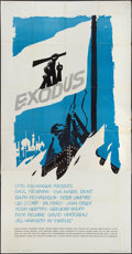 "Movie Posters:Drama, Exodus (United Artists, 1960). Three Sheet (41"" X 81""). Drama.. ..."