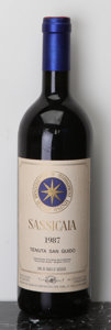 Italy, Sassicaia 1987 . Tenuta San Guido . Bottle (1). ... (Total:1 Btl. )