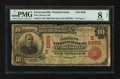National Bank Notes:Pennsylvania, Curwensville, PA - $10 1902 Red Seal Fr. 613 The Citizens NB Ch. #(E)6969. ...