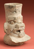 American Indian Art:Pottery, Small Monte Alban Incense Burner. ...