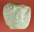 Antiques:Antiquities, Maya Jadeite Pendant of Man in Serpent Mouth...