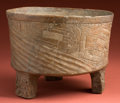 American Indian Art:Pottery, Large Maya Temple Incense Burner with Teotihuacan Influence...