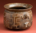 Pre-Columbian:Ceramics, Fine Colima Offering Vessel...