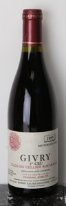 Red Burgundy, Givry 1995 . Clos du Cellier Aux Moines, Joblot . 1(3.5cm),2bsl, ocb. Bottle (12). ... (Total: 12 Btls. )