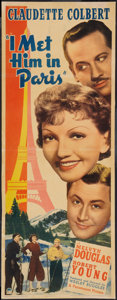 "Movie Posters:Comedy, I Met Him in Paris (Paramount, 1937). Insert (14"" X 36""). Comedy....."