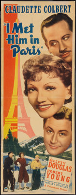 "I Met Him in Paris (Paramount, 1937). Insert (14"" X 36""). Comedy"