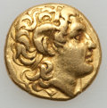 Ancients:Greek, Ancients: KINGDOM OF THRACE. Lysimachus (323-281 BC). AV stater(8.43 gm). ...