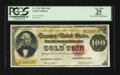 Large Size:Gold Certificates, Fr. 1214 $100 1882 Gold Certificate PCGS Apparent Very Fine 25.....